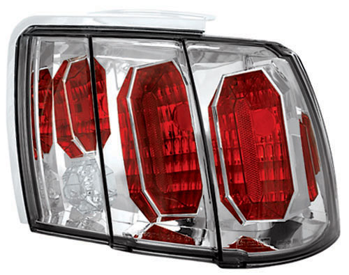 99-04 Mustang Taillights GEN 4 - CHROME (Pair)