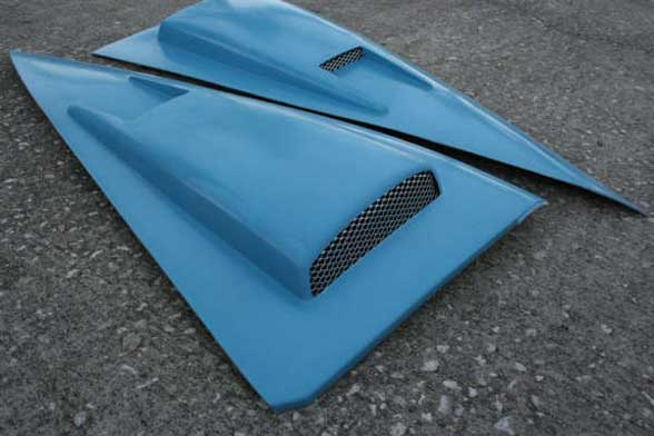 94-04 Mustang Retro-style C-Pillar Panel - Gen 2