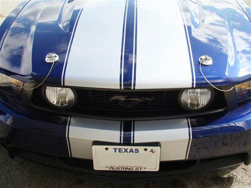 2005 2014 Mustang Billet Stylish Hood Pin Kit With Wire Lanyards