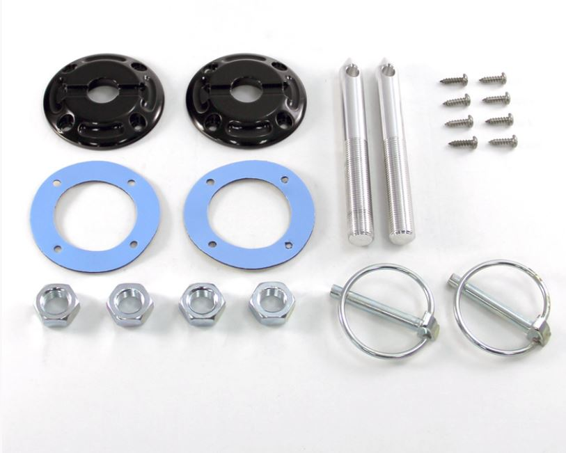 79-2014 Mustang Black Billet Stylish Hood pin Kit