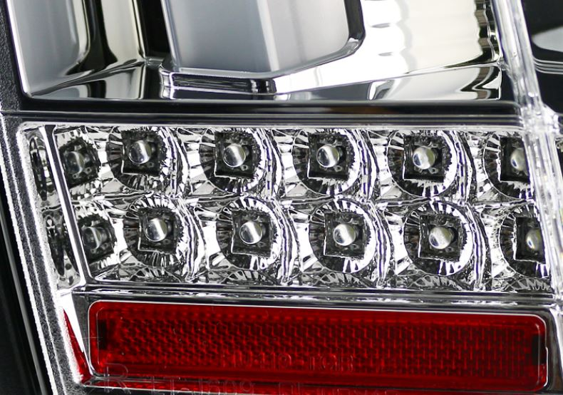 99-04 Mustang Taillights GEN 12 - CHROME with Built in Sequential 123 Blink (Pair)