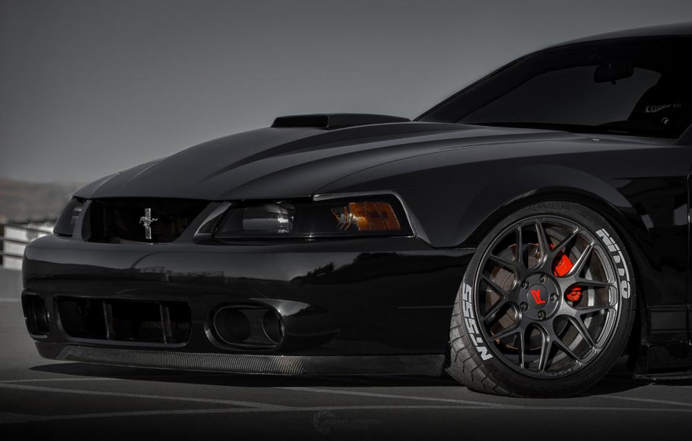 03 04 Mustang Cobra Carbon Fiber Front Bumper Lip Carbon