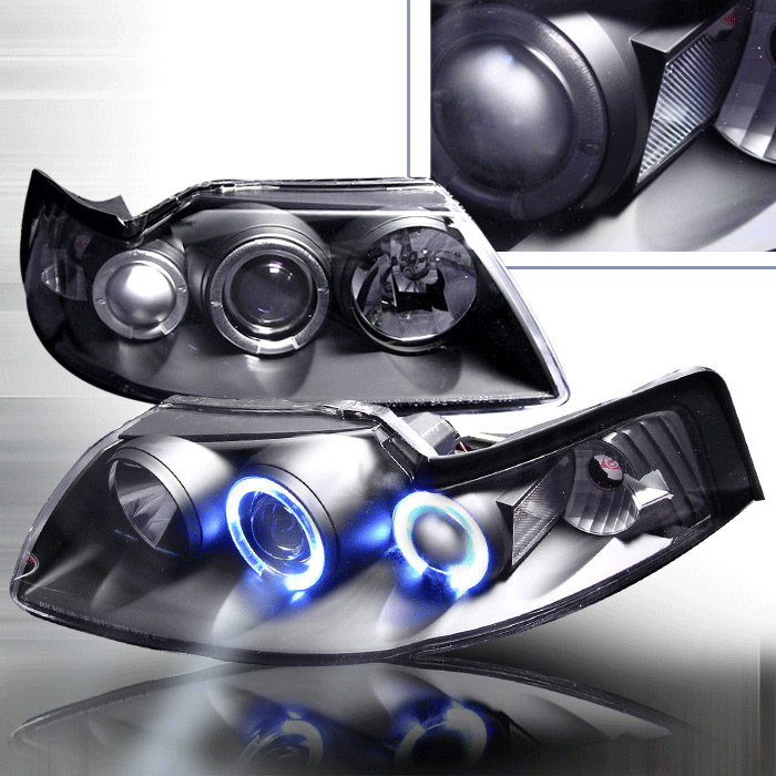 1999-2004 COMBO Projector Dual Angle Eyes Gen 2 - BLACK (Pair) & Taillights Gen 1 - CARBON FIBER (Pair)