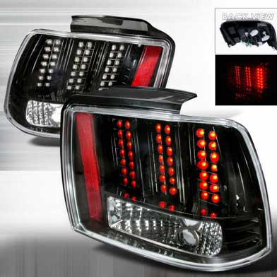 99-04 Mustang Taillights GEN 10 - LED BLACK (Pair)