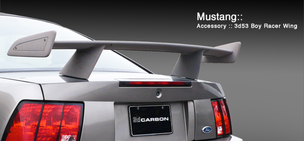1999-2004 Mustang 3D Carbon Boy Racer Wing (Paint Options)
