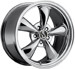 "BULLITT - CHROME - 5 Lug 94-04 (sizes available 16"", 17"", 18"", 20"" & Staggered)"