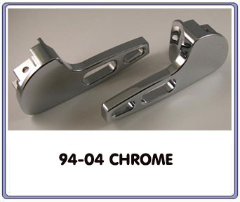94-04 Billet Aluminum Replacement Door Handles Chrome (Pair)