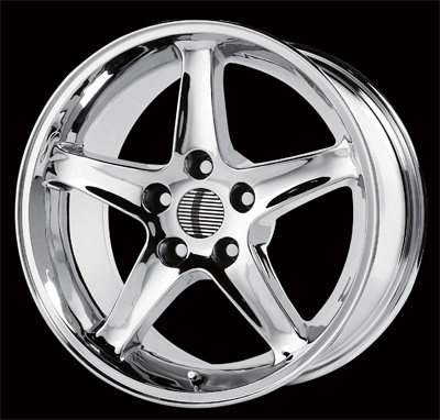 "COBRA R - CHROME - 5 Lug 94-04 (sizes available 16"", 17"", 18"", 20"" & Staggered)"