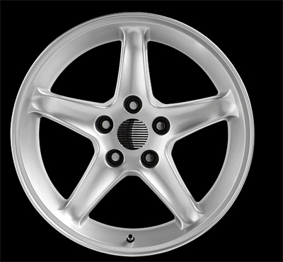 "COBRA R - SILVER - 5 Lug 94-04 (sizes available 16"", 17"", 18"" & Staggered)"