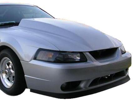 99 04 Mustang 4 Inch Cowl Hood Fibergl