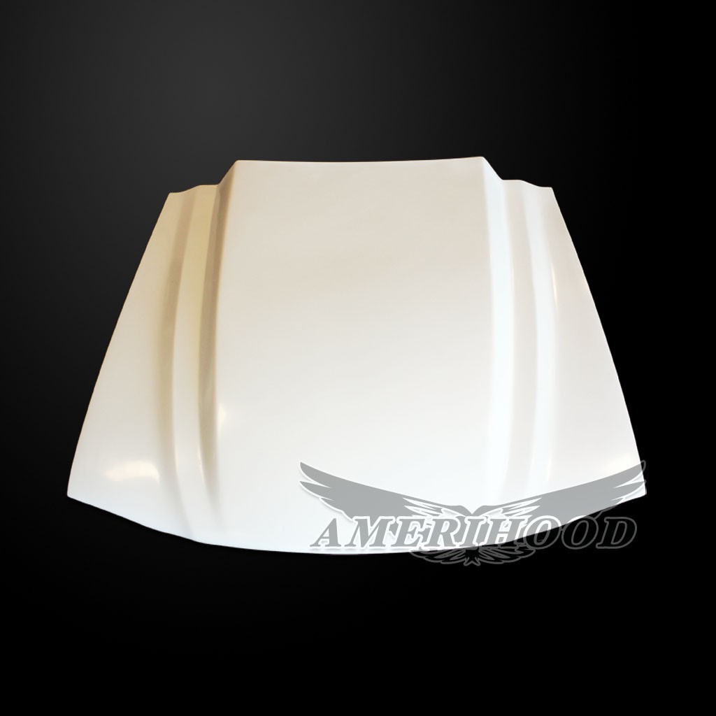 94-98 Mustang 3 INCH COWL Style Functional Heat Extraction Cooling Hood by Amerihood (Fiberglass)
