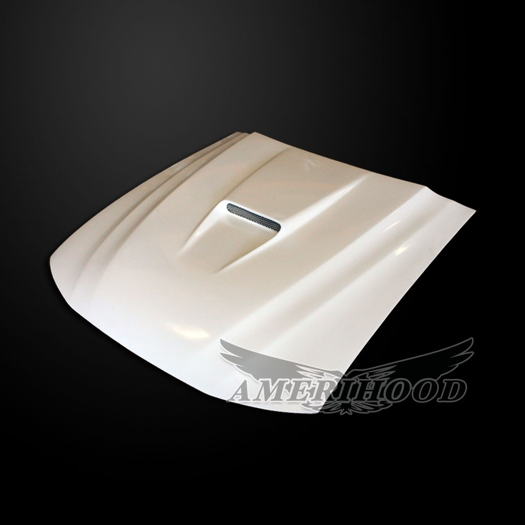 99-04 Mustang Type-2 Cobra R SVO Style Functional Heat Extraction Ram Air Hood by Amerihood (Fiberglass) W/Air Box