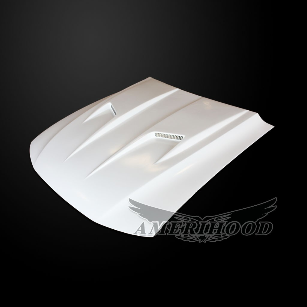 99-04 Mustang Type-3 Mach 2 Style Functional Heat Extraction Ram Air Hood by Amerihood (Fiberglass) W/Air Box
