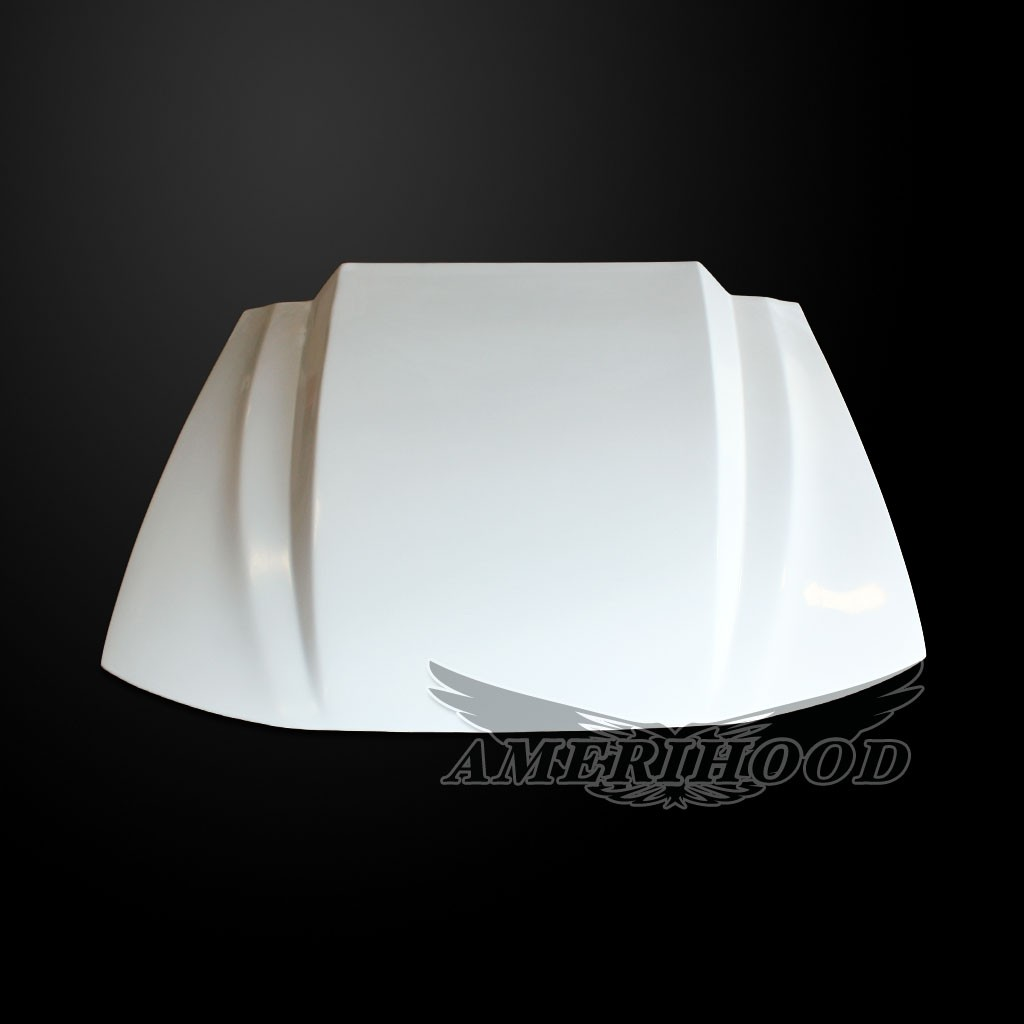 99-04 Mustang 3 INCH COWL Style Functional Heat Extraction Cooling Hood by Amerihood (Fiberglass)