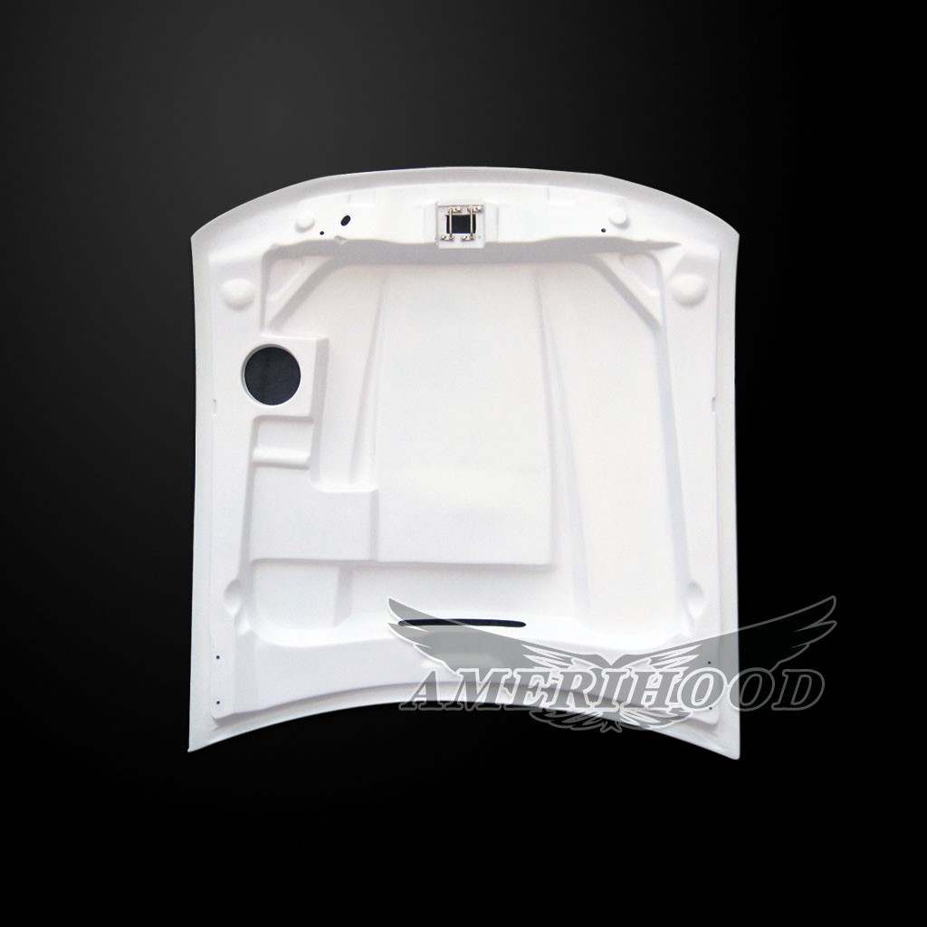 99-04 Mustang Type-5 SPYDER Style Functional Heat Extraction Ram Air Hood by Amerihood (Fiberglass) W/Air Box