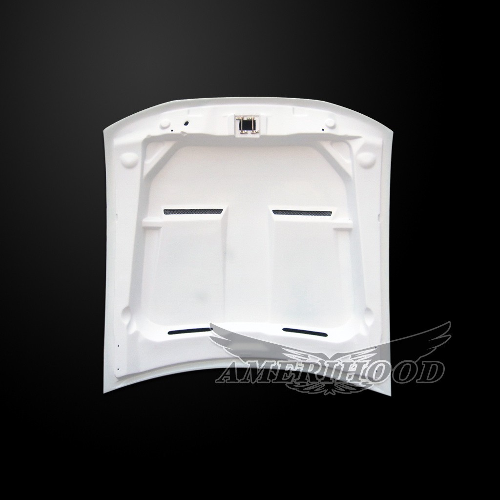 99-04 Mustang Type-6 Style Functional Heat Extraction Cooling Hood by Amerihood (Fiberglass)