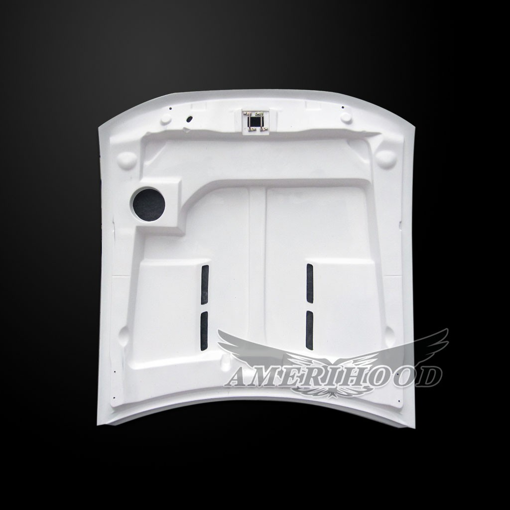 99-04 Mustang Type-E GTS Style Functional Heat Extraction Ram Air Hood by Amerihood (Fiberglass) W/Air Box