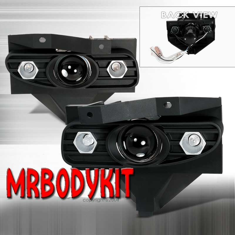 99-04 Mustang GT/V6 Ultra Fog Lights - Projector Beam w/LED Style side lights(Pair)