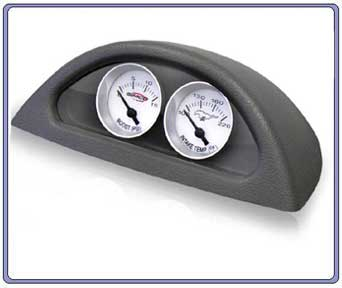 99-04 Simco Custom Electric Gauge Pod Boost & Air Temp - SILVER