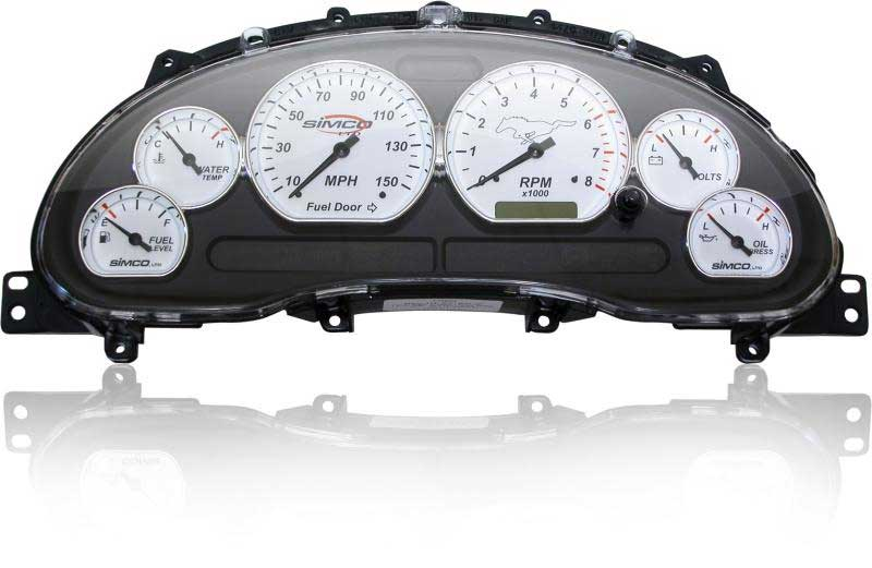 99-04 Simco Gauge Cluster - Classic Chrome V6