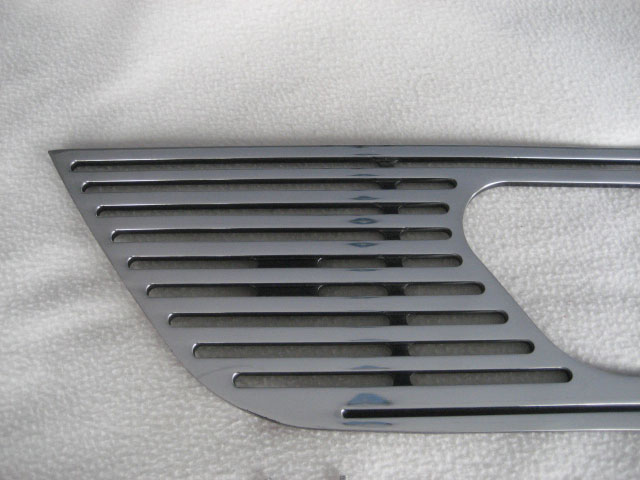 99-04 Mustang Upper CNC Grille with Stainless Steel Overlay with Emblem Cut 9987