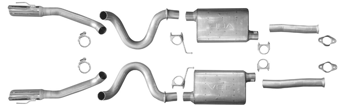 "99-04 Mustang GT 2.5"" Cat-Back Exhaust JBA- Stainless Steel"