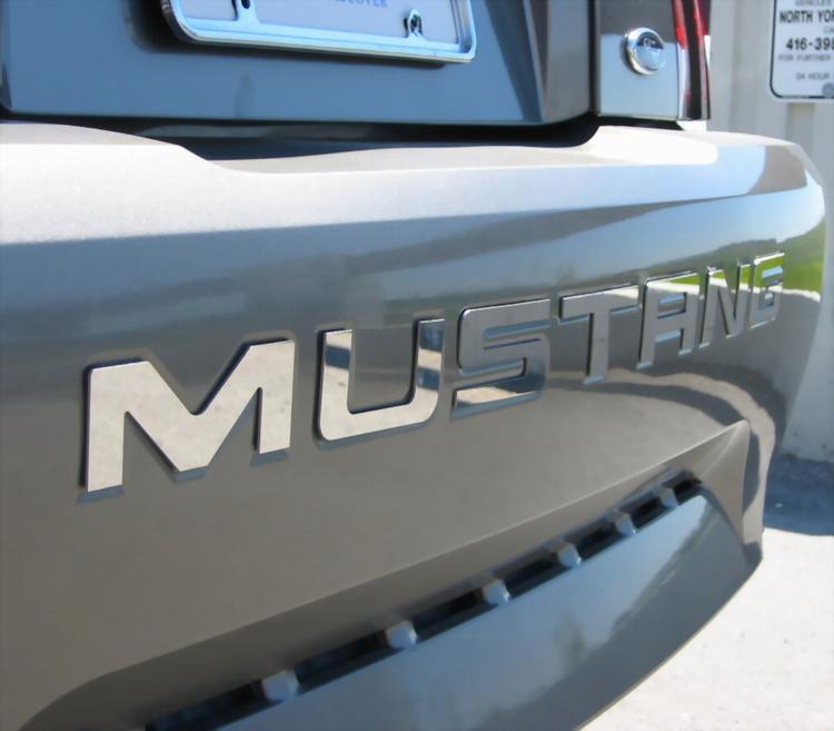 99 04 rear bumper mustang chrome stainless steel cnc letter kit