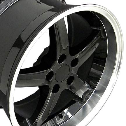 "COBRA R - BLACK - 5 Lug 94-04 (sizes available 17"", 18"", 20"" & Staggered)"