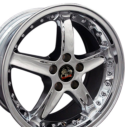 "COBRA R Motorsports - CHROME - 5 Lug 94-04 (sizes available 17"", 18"", 20"" & Staggered)"