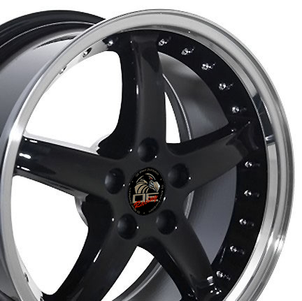 "COBRA R Motorsports - BLACK - 5 Lug 94-04 (sizes available 17"", 18"", 20"" & Staggered)"