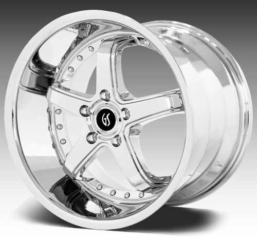 "OMEGA 1 GODSPEED - CHROME - 5 Lug 94-14 (sizes 18x9, 18x10, 20x8.5, 20x10"" & Staggered) (NITTO TIRE OPTIONS)"