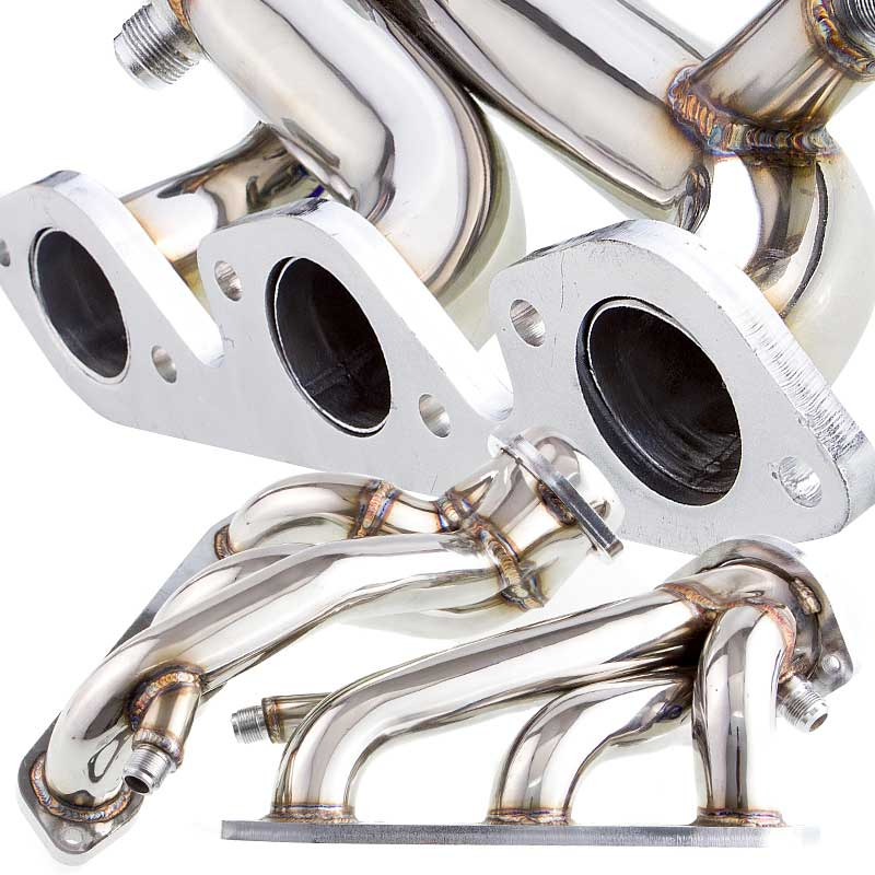 99-04 Mustang 3.8L V6 Shorty Headers - Chrome
