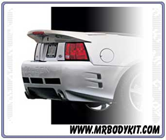 1999-2004 Mustang Saleen Style Wing w/3rd Brake light included - (Covers factory Holes)