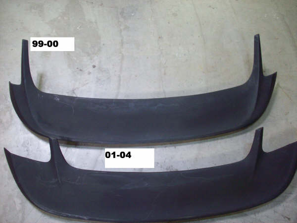1999-2004 Mustang Saleen Style Wing w/3rd Brake light included - (Covers factory Holes) (PAINT OPTIONS)