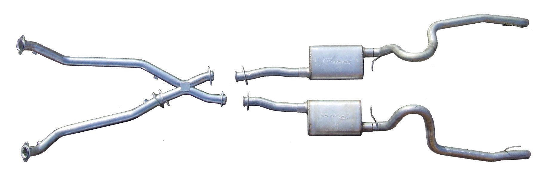 1998-2004 Mustang V6 True-Dual System w/ X-Pipe - By PYPES