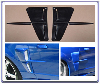 99-04 Mustang Stalker 2 Side Scoops (DOOR STRIP GUARD) Works on any 79-14 mustang