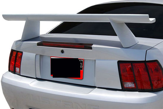 1999-2004 Mustang NO-LIGHT COBRA-HIGH-STYLE Wing - Fiberglass