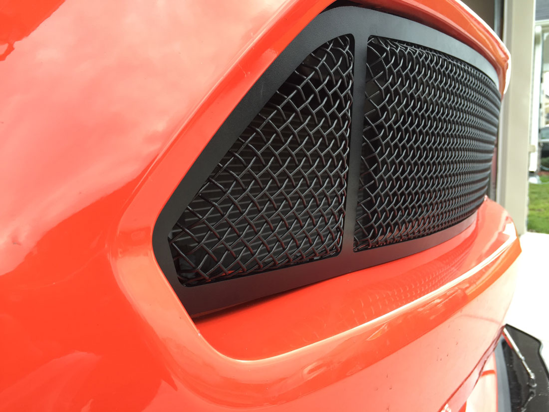2015-2017 - Lower MESH Full Replacement 3D Formed MESH Grilles - BLACK (GT, V6, ECO BOOST, 50th) 3 QUARTERED LOOK