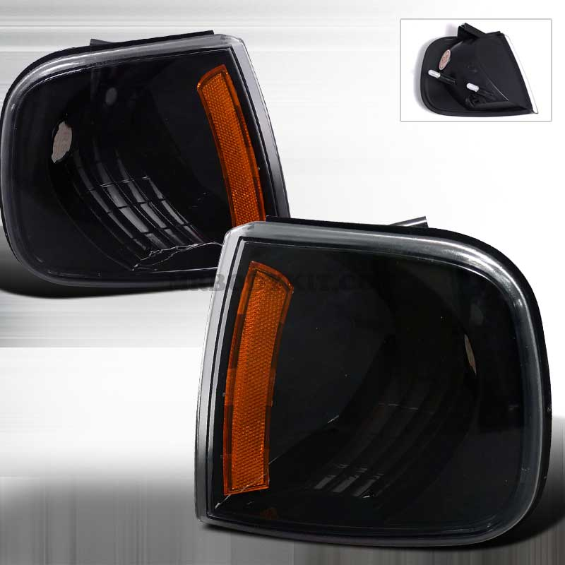 1997-2003 Ford F-150 CORNER LIGHTS BLACK