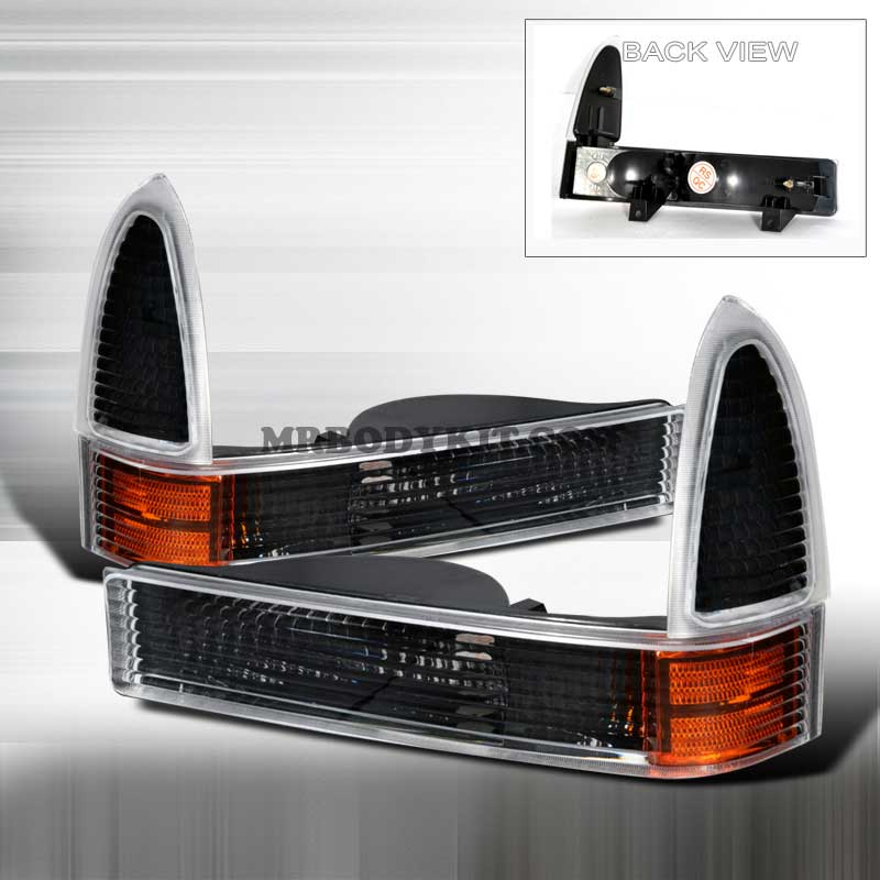 1999-2004 Ford F-250/F-350 CORNER LIGHTS BLACK