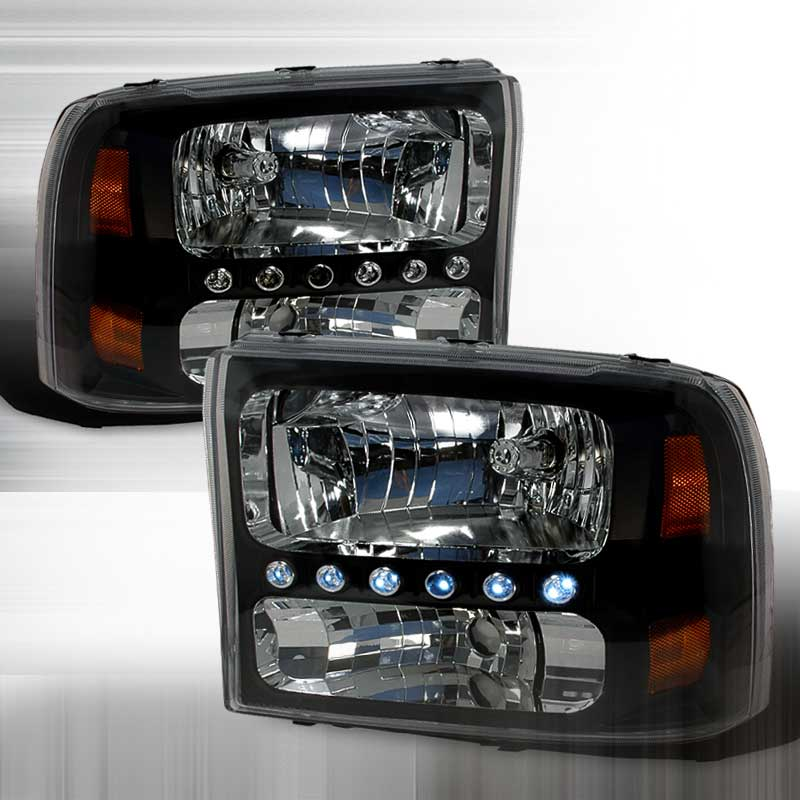 1999-2004 Ford F-250 PROJECTOR CRYSTAL HOUSING FORD EXCURSION 00-04 / SUPER DUTY 99-04 HEADLIGHTS BLACK