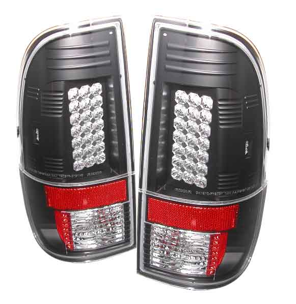 2008-2010 Ford F-250 / 350 / 450 Super Duty LED Tail lights V1 - Black