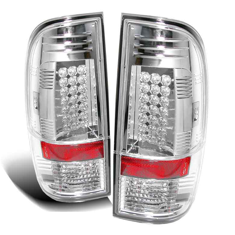 2008-2010 Ford F-250 / 350 / 450 Super Duty LED Tail lights V1 - Chrome