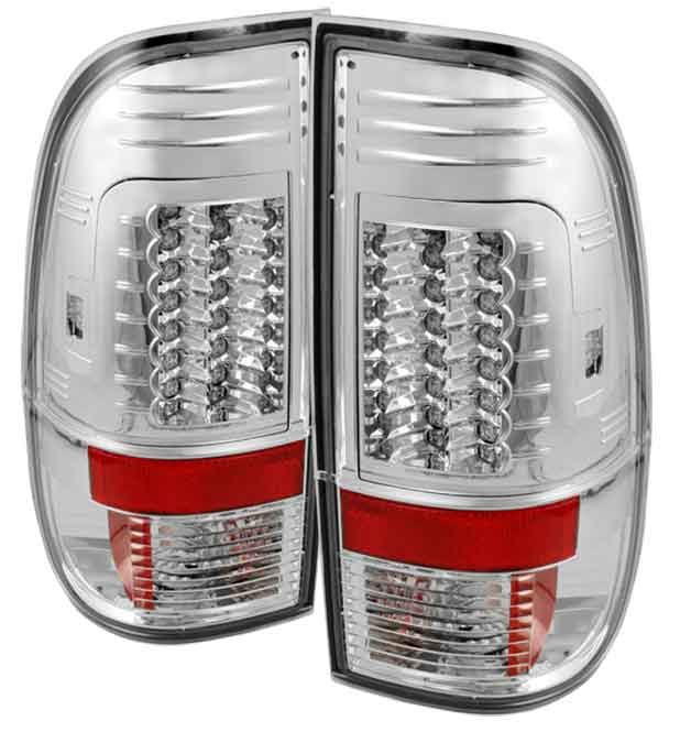 2008-2010 Ford F-250 / 350 / 450 Super Duty LED Tail lights V2 - Chrome