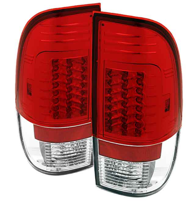 2008-2010 Ford F-250 / 350 / 450 Super Duty LED Tail lights V2 - Red