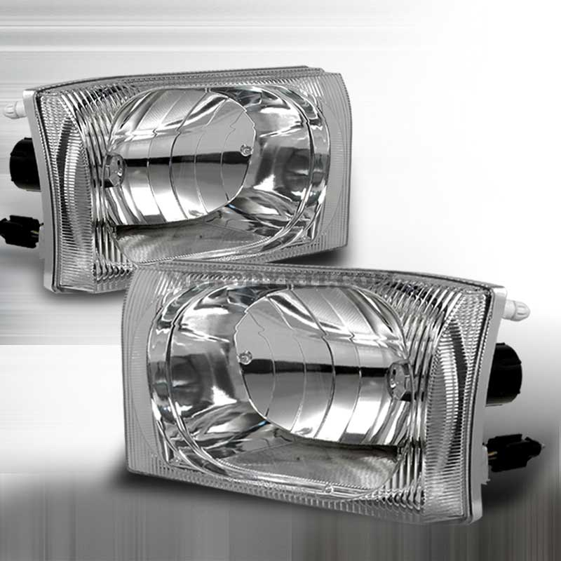 1999-2004 Ford F-250 CRYSTAL HOUSING HEADLIGHTS APC CHROME