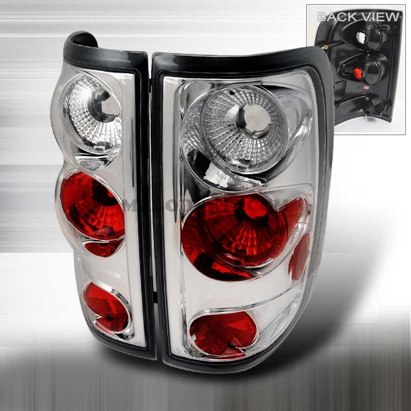 2004-2008 Ford F-150 Styleside Altezza Tail Lights - Chrome