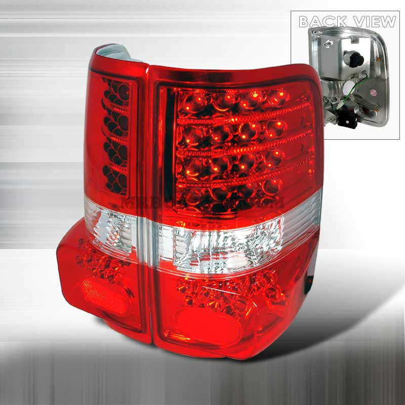 2004-2008 Ford F-150 3D Style LED Tail Lights - Red