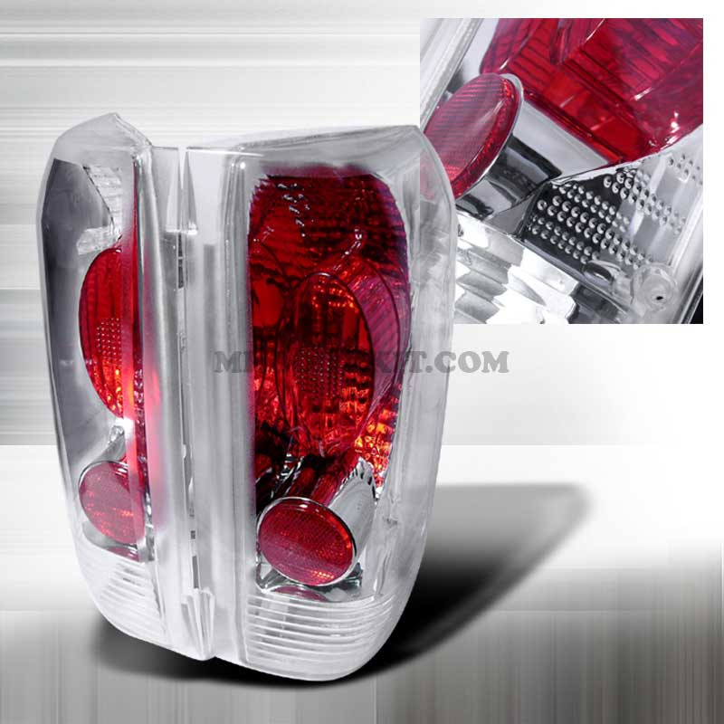 1992-1996 Ford F-150 ALTEZZA TAILLIGHTS - CHROME