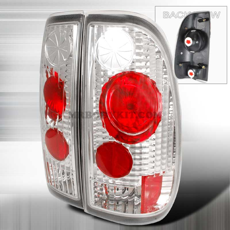 1997-2000 Ford F150 Styleside Altezza Tail Lights - Chrome